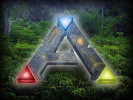 Wallpaper Ark survival evolved logo