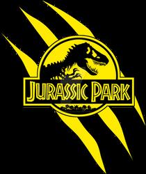 Logo Jurassic Park Yellow Scratches