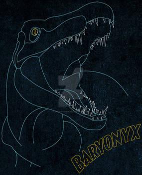 Baryonyx lineart