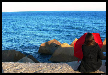 The red umbrella's girl