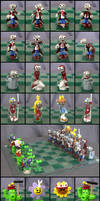 Plants Vs. Zombies Chess Set