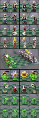 Plants Vs. Zombies Chess Set