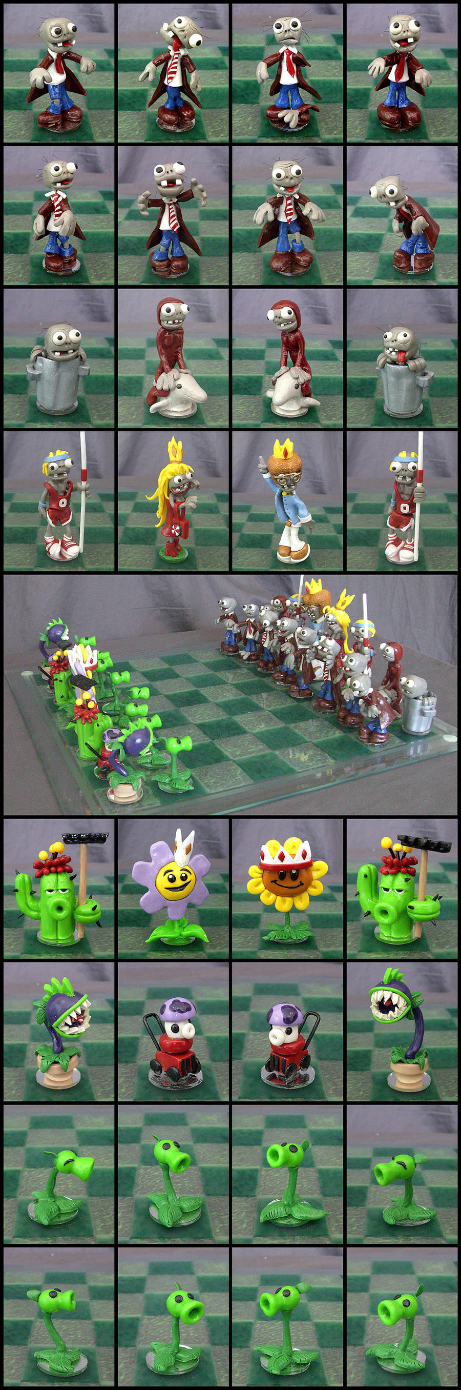 Plants Vs Zombies Hacked >> Plants Vs. Zombies Chess Set by Cyle on DeviantArt