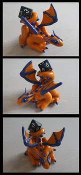 Orange Dice Dragon