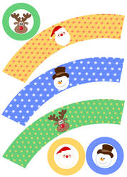 seasonal Cupcake Wrapper by F-A