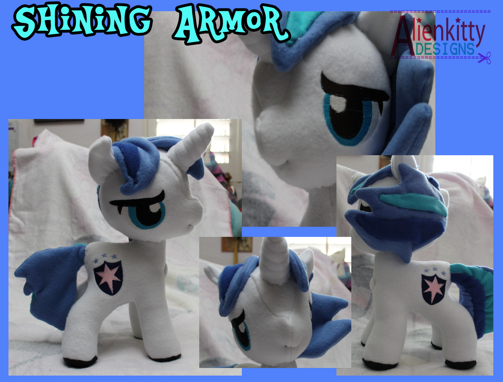 Shining Armor Plush by alienkittykun