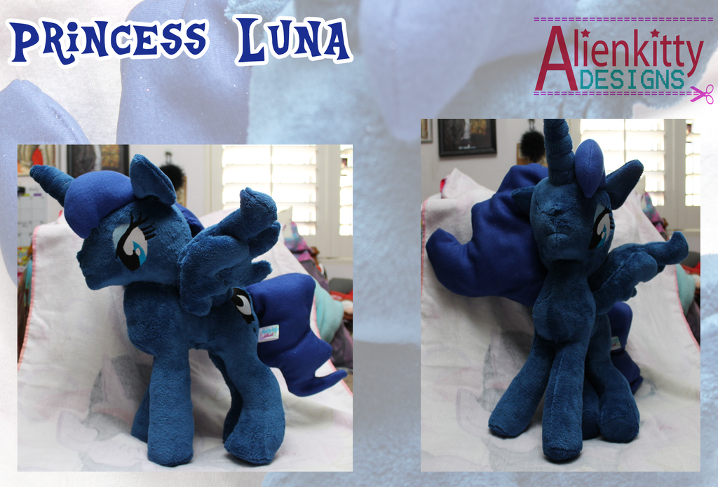 Princess Luna Plush by alienkittykun