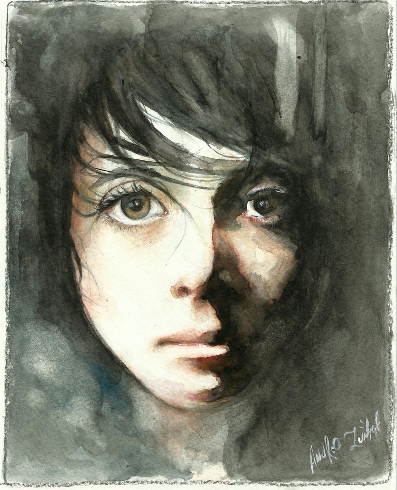 Watercolor Girl by AndrewLaFish-Arts