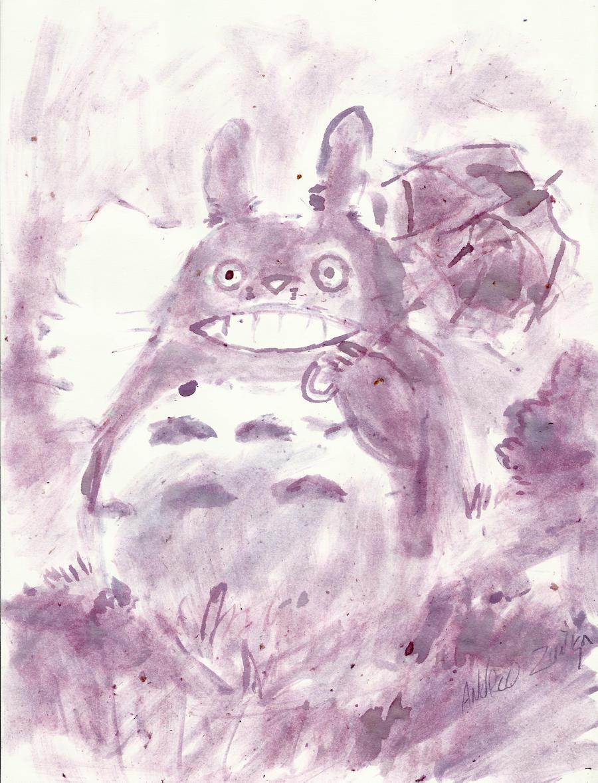 Cherry Totoro by AndrewLaFish-Arts