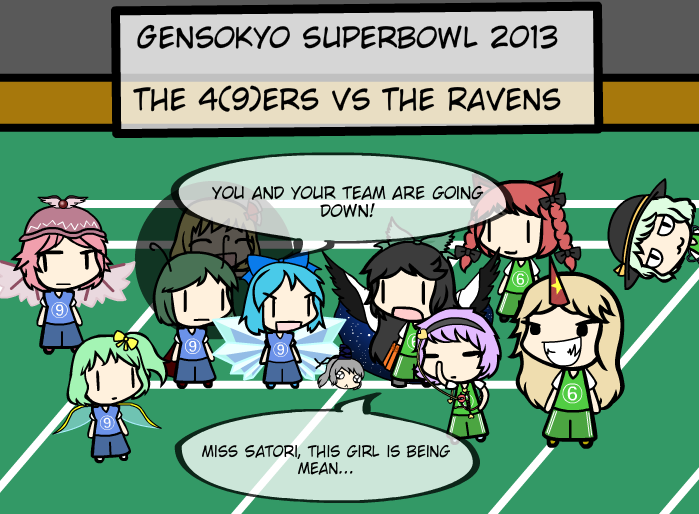 Gensokyo Superbowl 2013: The 4(9)ers vs The Ravens by TheGuyNamedSky