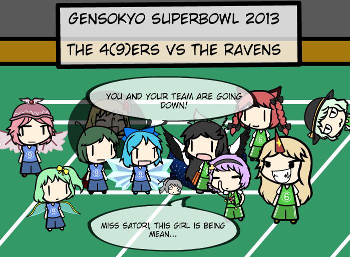 Gensokyo Superbowl 2013: The 4(9)ers vs The Ravens by TheGuyNamedSky
