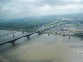 the mississippi river by horse-stock