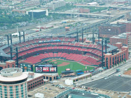 stadium.. st. louis.. by horse-stock