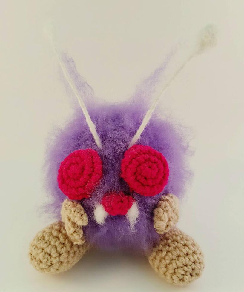 Crochet Venonat wip by bekichat