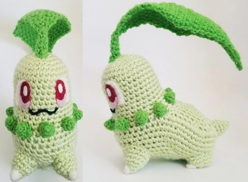 Crochet Chikorita  by bekichat