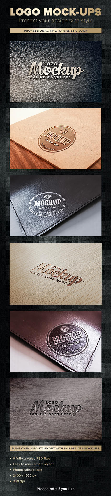Logo Mockups by Evey90