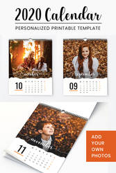 2020 Personalized Calendar - ADD YOUR OWN PHOTOS!