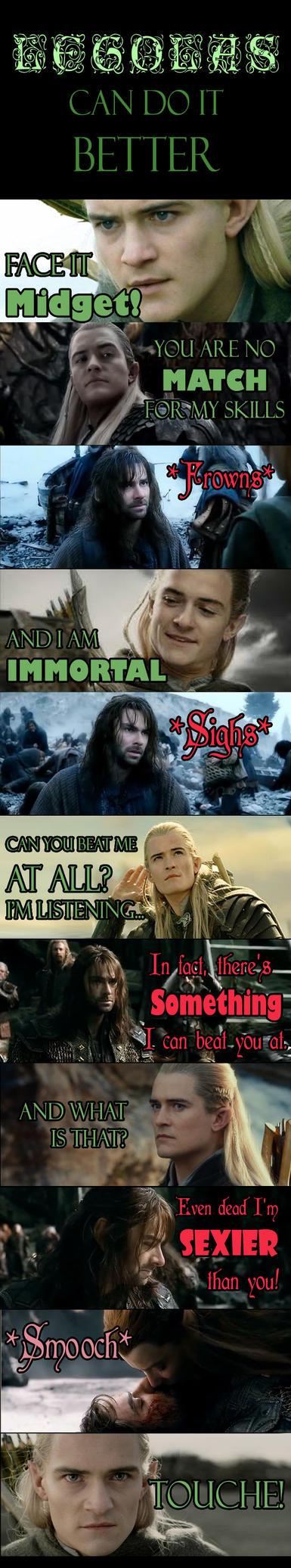 Legolas can do it better... Maybe? by Faerietopia