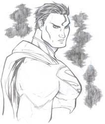 superman skech by salo-art