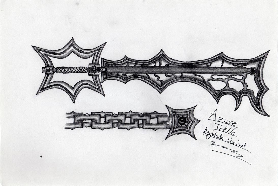 Azure Teeth Keyblade Variant by DarkoLeodias
