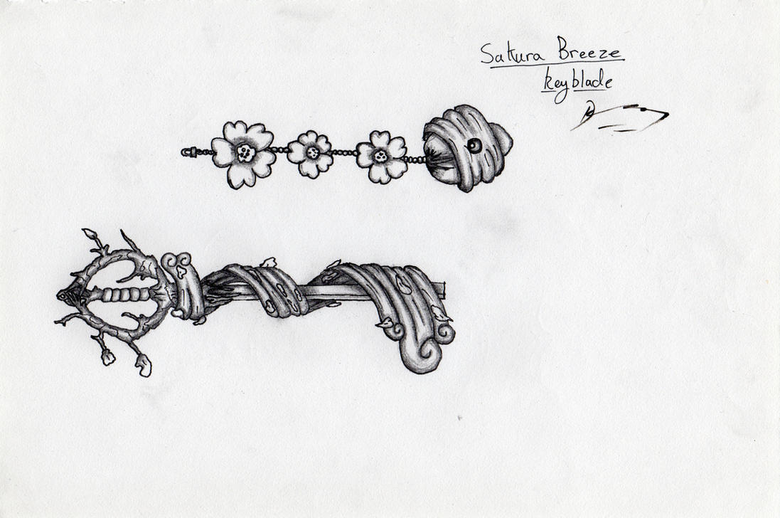 Sakura Breeze Keyblade Design by DarkoLeodias
