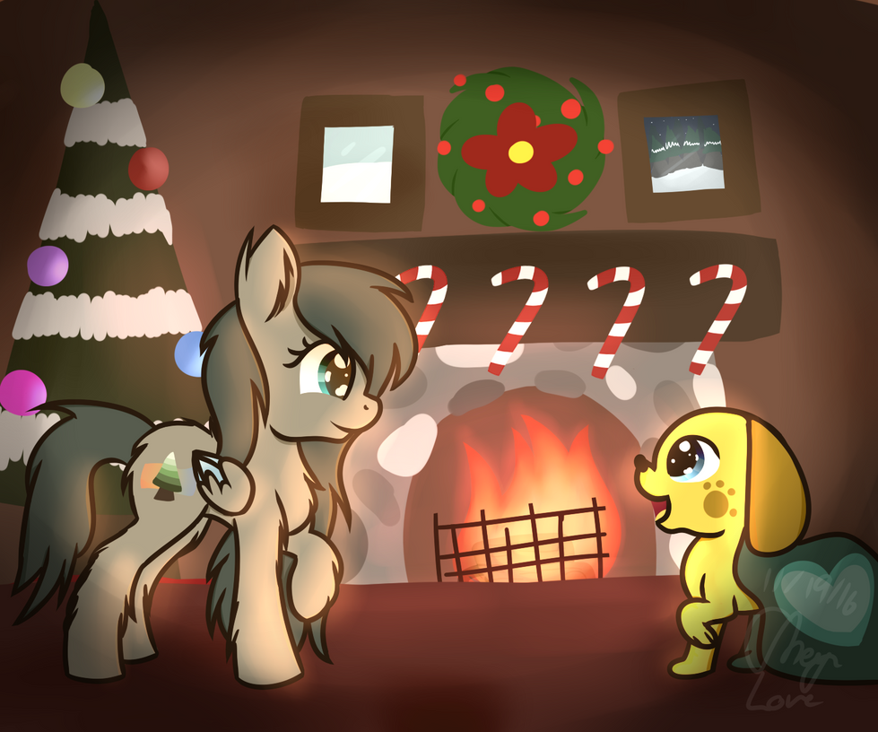 Hearth's Warming Eve [Speedpaint Included] by TheWalkingEvergreen