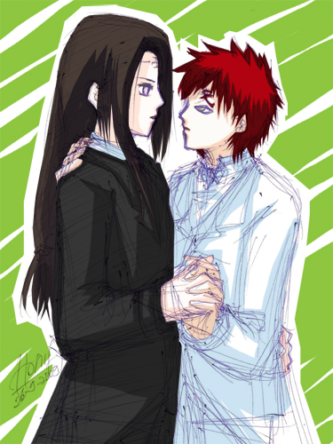 Neji X Gaara by honeyf on DeviantArt Gaara And Neji