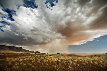 Desert Cloudburst by Zefisheye