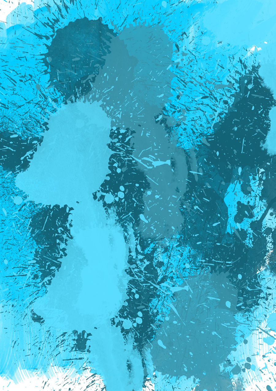 paint splatter background blue -#main
