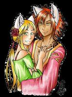 Keya et Azalen by CaelaSephyra