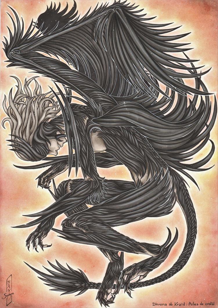 Time to rise ~ Dhrona ab Kraid : Ailes de Cristal by CaelaSephyra