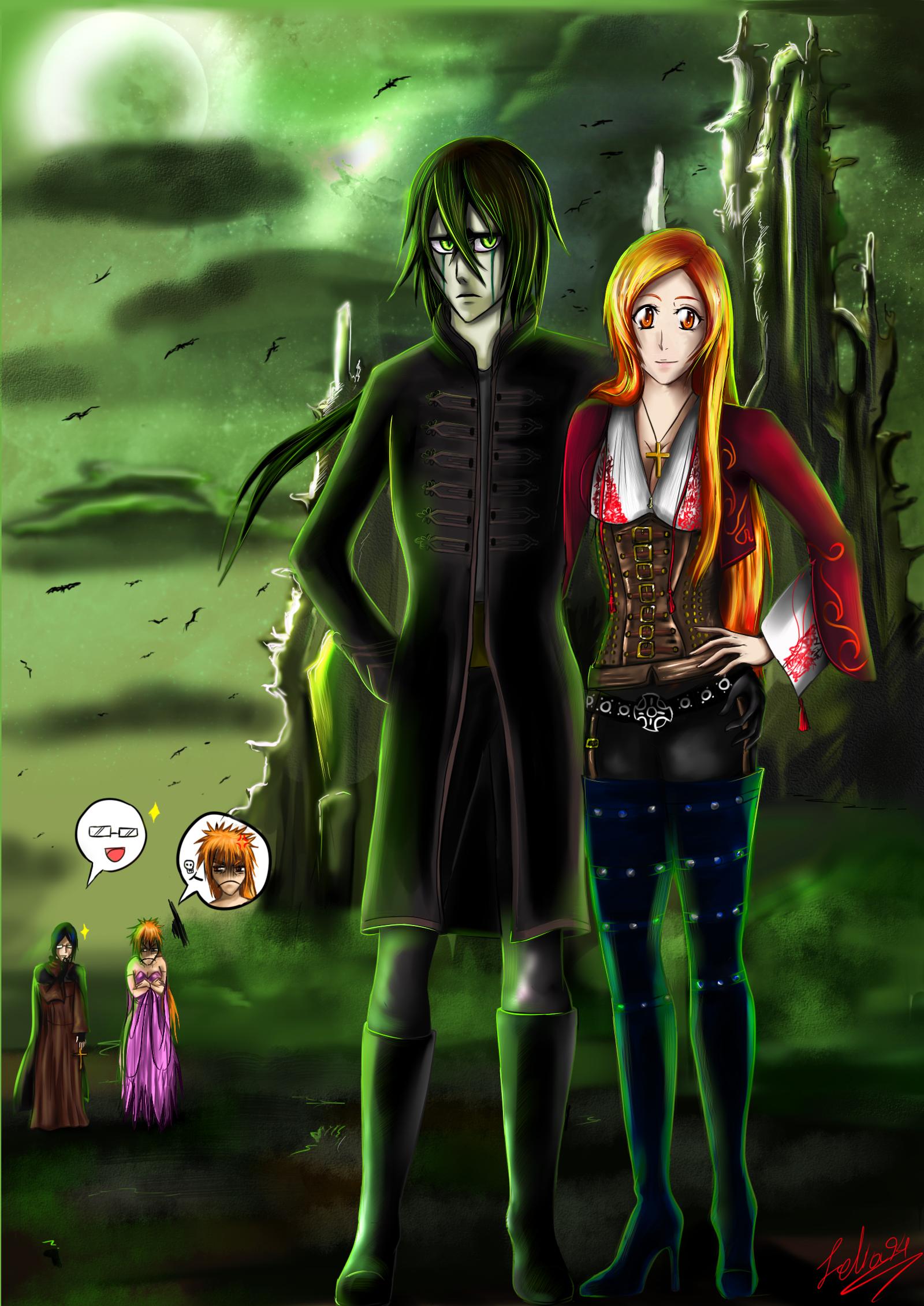 Ulquihime halloween by zelka94