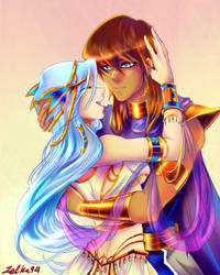 With my queen by my side by zelka94
