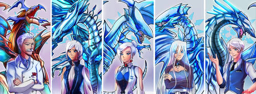 Commission rwby/yugioh blue eyes schnee family by zelka94