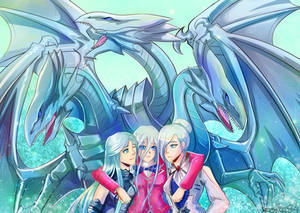 The Blue-Eyes Trio Rayneshia, Kisara and Winter
