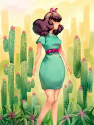 Succulent Girl by Cetriya