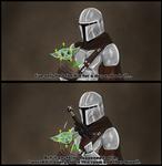 Mandalorian And Baby Yoda