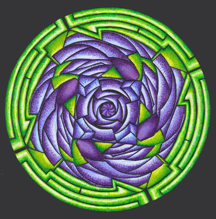 20120615 Rose Mandala by Cyberpumpkin