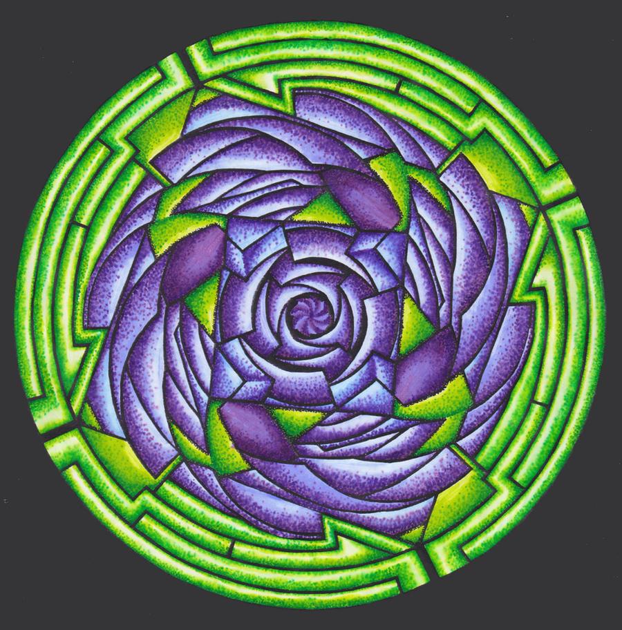 20120615 Rose Mandala by Cyberpumpkin