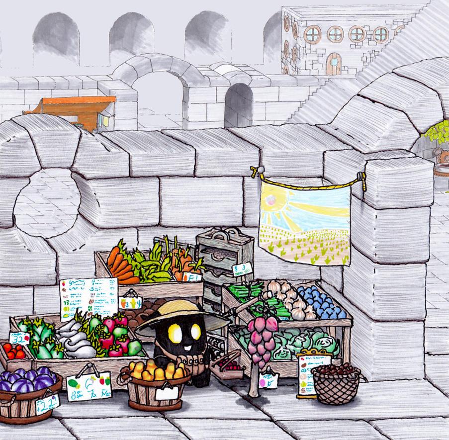 Vegetable Vendor by Cyberpumpkin