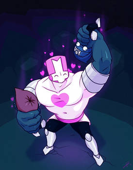 Pink Knight Beefy Mode