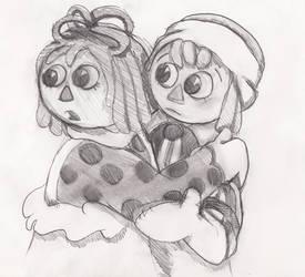 Raggedy Sketch by spotty-bee