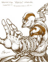 sketch6 - Kratos by Oshouki