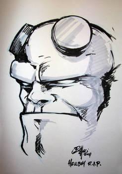Con Sketch Hellboy