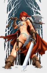 Red Sonja, the snow bunny