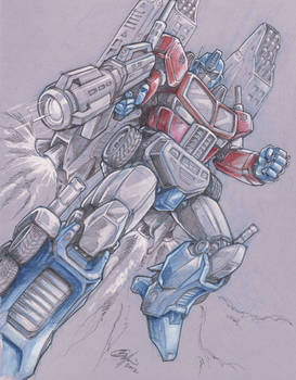 Optimus Prime sketch commission