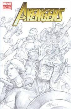 Avengers blank variant sketch