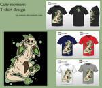 Cute monster t-shirt design