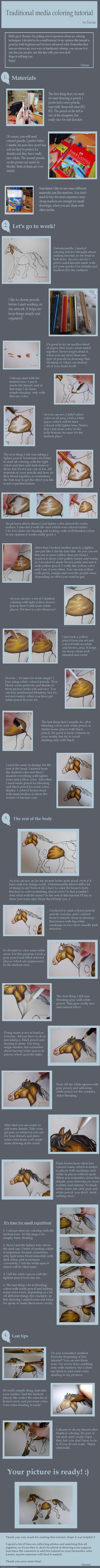 Traditional media coloring tutorial by enerai