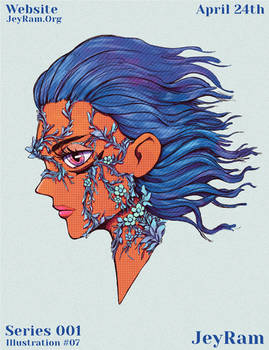 Wind Portrait Illustration